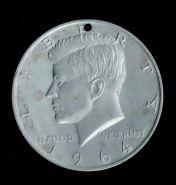 Большая, красивая настольная медаль 1964г КЕННЕДИ, 75мм