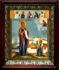 Явление Богородицы Андрею Боголюбскому (19х22), темный киот