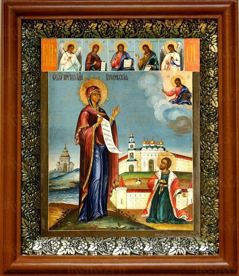 Явление Богородицы Андрею Боголюбскому (19х22), светлый киот