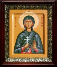 Антонина Никейская (19х22), темный киот