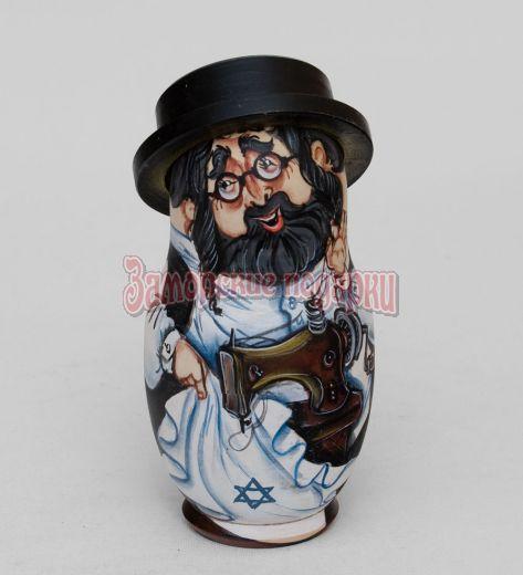 Матрешка ''Еврей в шляпе'' (5 шт) С