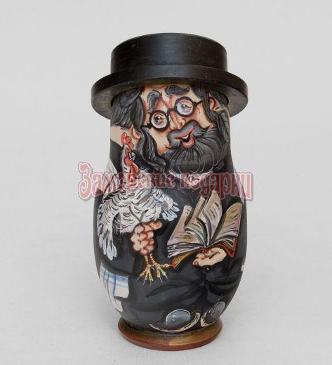 Матрешка ''Еврей в шляпе'' (5 шт) Д
