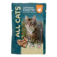 ALL CATS Для кошек с индейкой в соусе (85 г)
