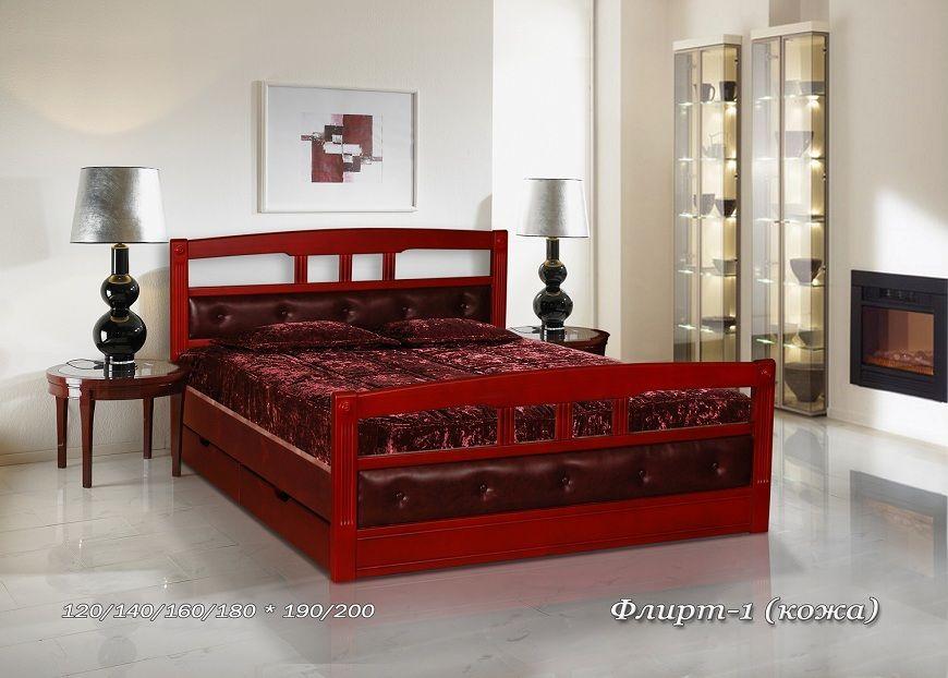 Кровать Флирт-1 (кожа) | Альянс XXI век