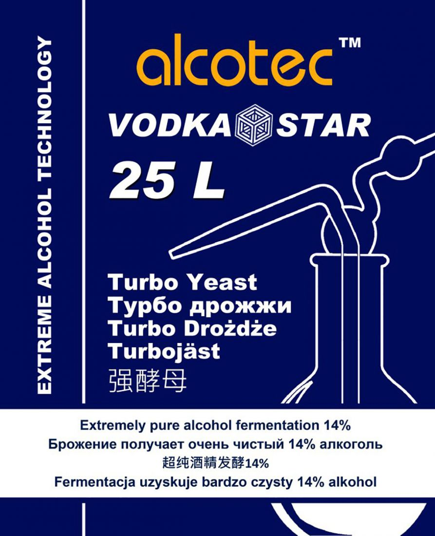 Турбо-дрожжи Alcotec Vodka Star, 66 гр
