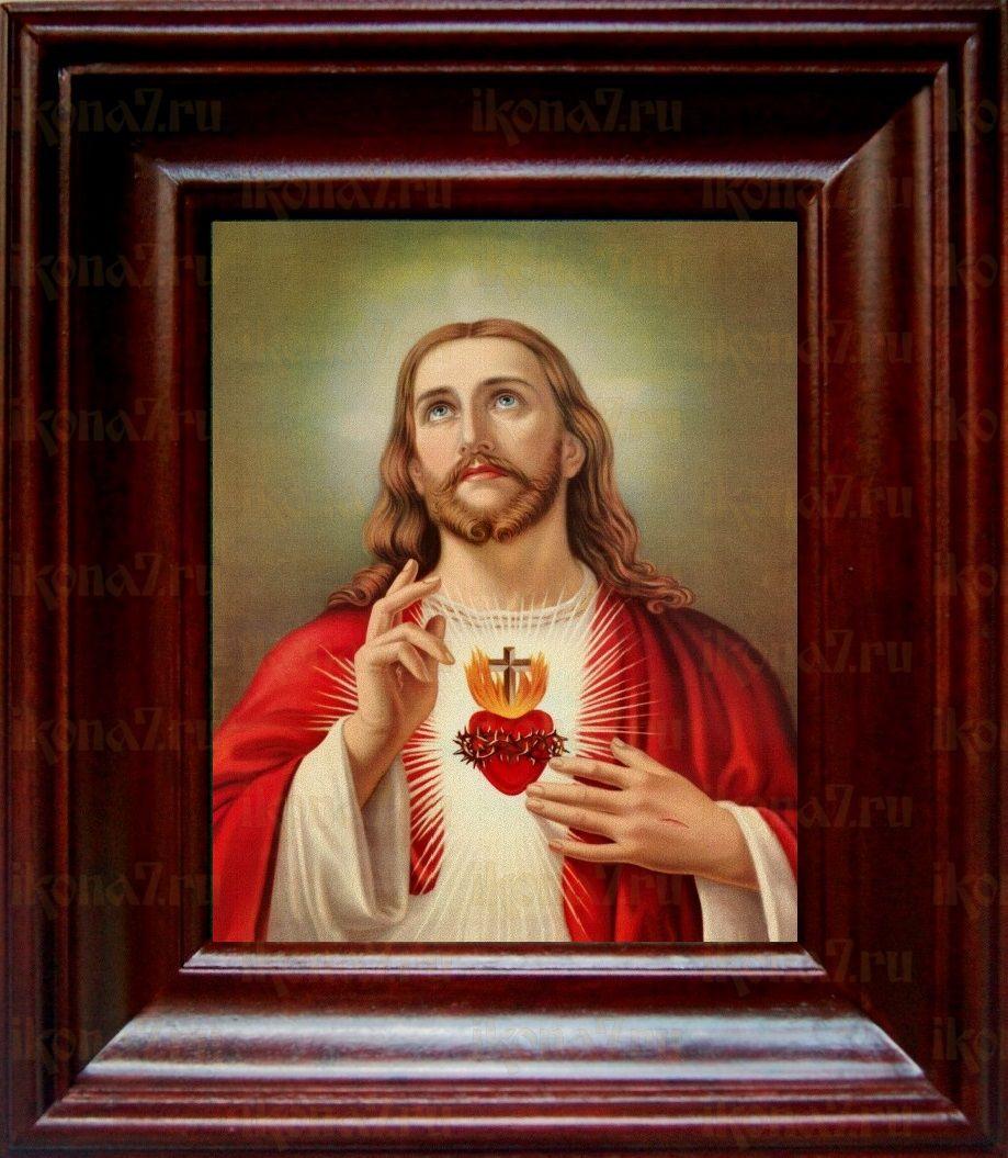 Сердце Иисуса Христа (21х24), простой киот