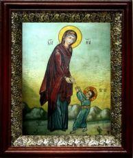 Первые шаги Иисуса Христа (19х22), темный киот