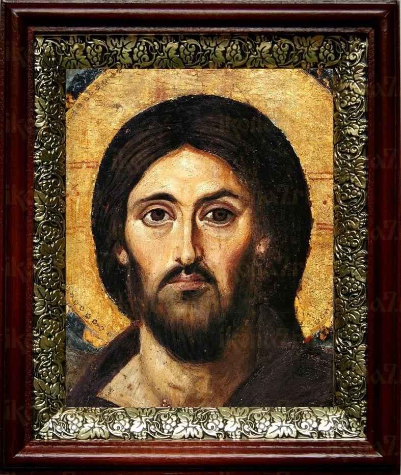 Христос Пантократор Синайский (19х22), темный киот