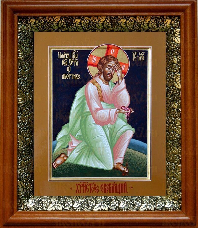 Плач Иисуса Христа об убиенных младенцах (19х22), светлый киот