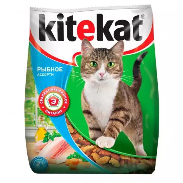 Корм сухой Kitekat Рыбное Ассорти для кошек с рыбой 15кг