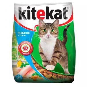 Корм сухой Kitekat Рыбное Ассорти для кошек с рыбой 0.8кг
