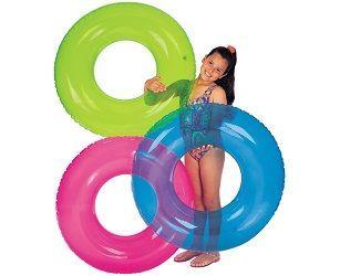 Круг прозрачный 3 цвета от 8 лет 76 см INTEX 59260