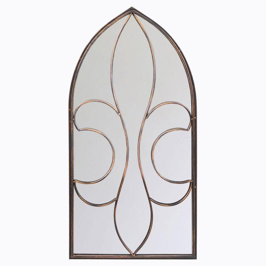 Настенное зеркало Флореаль (бронзовый антик)