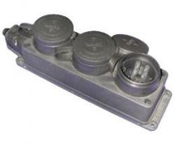 Колодка T-plast тройная каучуковая 1ф 16А 250В