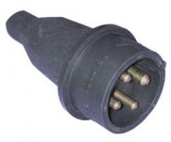 Вилка T-plast прямая каучуковая 3ф 32А 380В