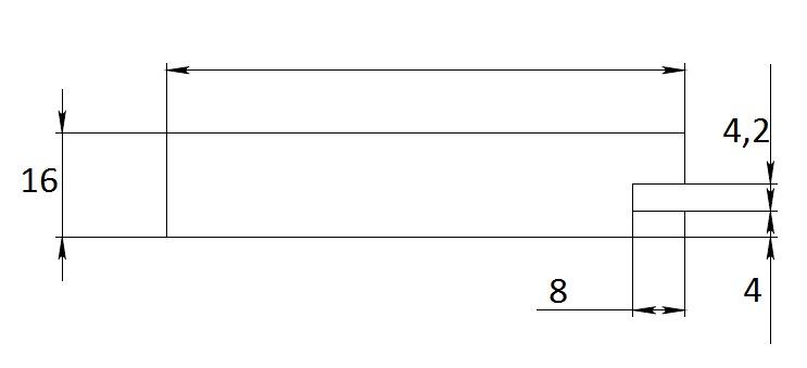 Дополнительные рамочные профили №8016 паз 4,2