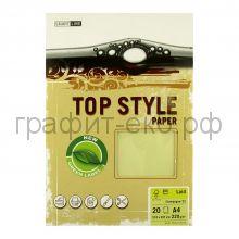 Бумага А4 Smart Line Top Style laid champagne шампань 220г/м 20л 3243