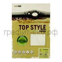 Бумага А4 Smart Line Top Style tradition white белая 250г/м 20л 3232/869