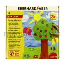 Краски для рисования руками 4цв.100мл Faber-Castell FC578804