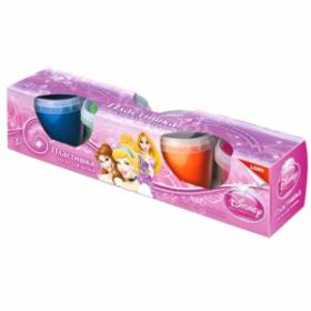 """Тесто для лепки """"Lori. Пластишка. Принцессы Disney"""" 4 цвета (арт. Тдд-001) (09600)"""