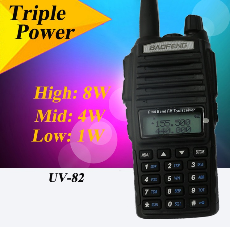 Рация Baofeng UV-82 8W (3 режима мощности) черная