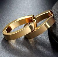Серьги с золотым покрытием