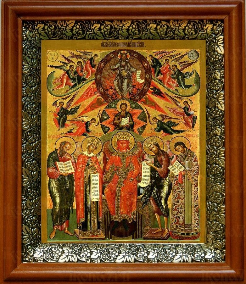 София-Премудрость Божия (Новгородская) (19х22), светлый киот
