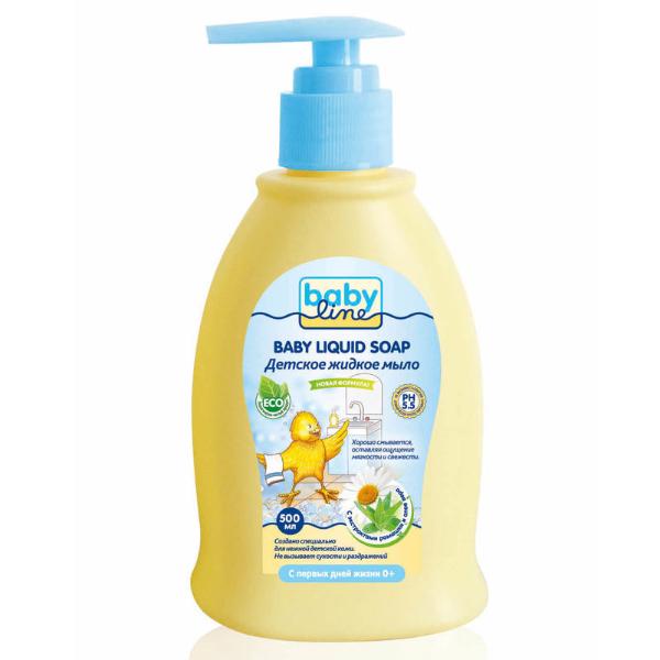 BABYLINE NATURE Детское жидкое мыло, с дозатором, 500 мл