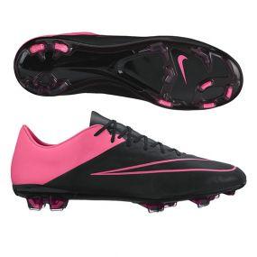Бутсы Nike Mercurial Vapor X Leather FG чёрные