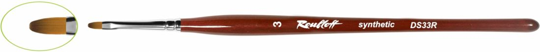 DS33R - Кисть овальная из синтетики - имитация колонка №4