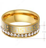 Кольцо Versace с камнями