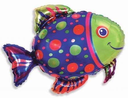 Новая рыбка фольгированный шар с гелием