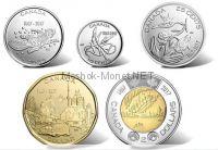 Канада 25 центов 2017 Набор из пяти регулярных монет