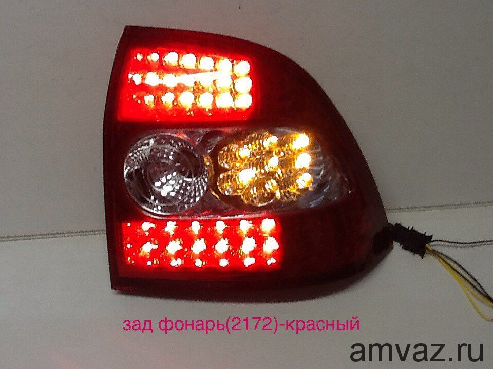 Задние фонари ZFT-302 LED (2172 диод красно-белый) комплект