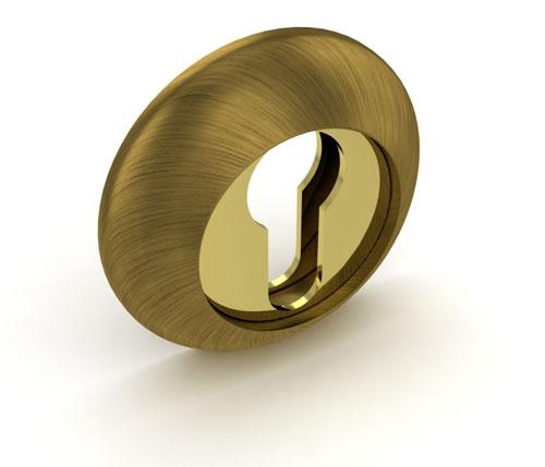 Накладка под цилиндр ЕТ RM AB-GP Бронза-золото