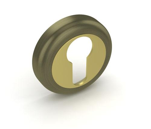Накладка под цилиндр ЕТ ZM AB-GP Бронза-золото