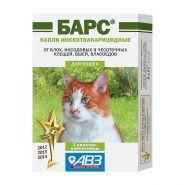 Барс Капли против блох и клещей для кошек (3 шт./уп.)