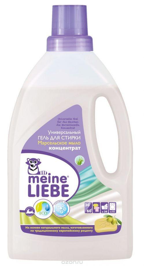 """MEINE LIEBE Гель для стирки универсальный """"Марсельское мыло"""", концентрат, 800 мл."""