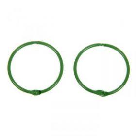Кольца для творчества, для фотоальбомов, зелёные 50 мм, набор 2 шт.