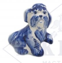 Собака Гжель Йоркширский терьер Боня 8х5,5х7,5см
