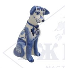 Собака Гжель Лорд 10,5х4х6,5см