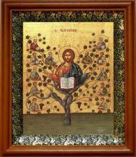 Древо Жизни (Виноградная Лоза) (19х22), светлый киот
