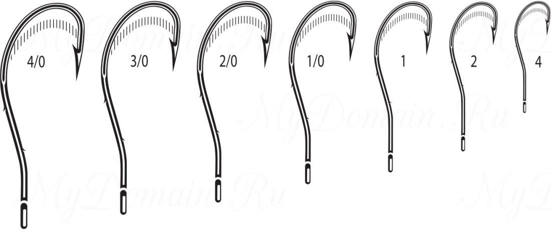 Крючок Cannelle 5104 K № 3/0 уп. 100 шт. (черный никель, кованный, две бородки на цевье, отогнутое жало, ванадиум)