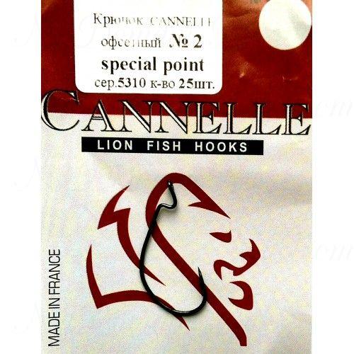 Крючок офсет Cannelle (5310 К)№ 1 уп. 100 шт. (ванадий,техасская система,кованный,сверх-легкий)
