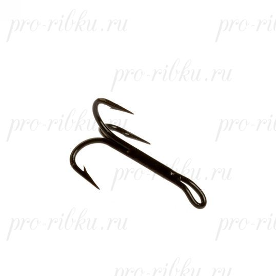 Тройник Cannelle 3018 W № 12 уп. 10 шт. (черный, для нахлыста, длинное цевье)