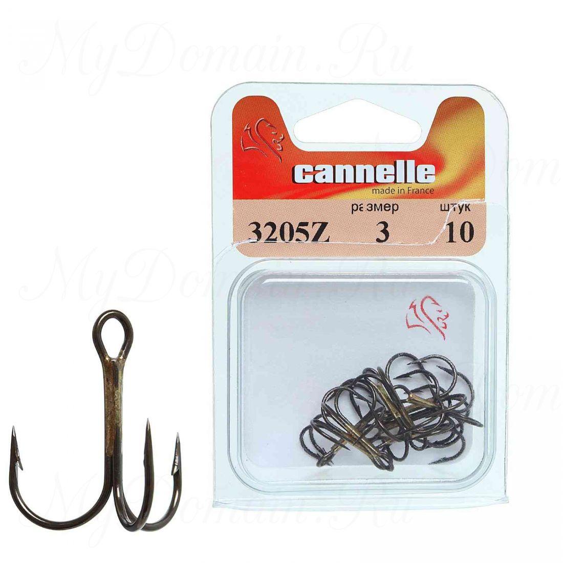 Тройник Cannelle 3205 N № 3/0 уп. 10 шт. (никель,круглый поддев,стандартный тройник,средняя проволка)