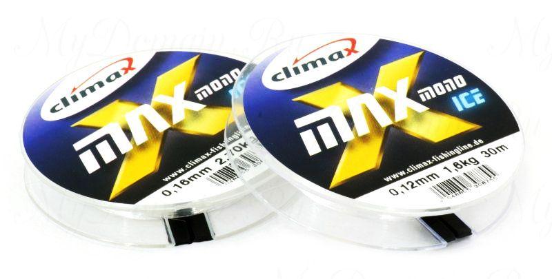 Леска Climax X-Max Mono Ice 0,12 мм 30 м 1,60 кг уп. 10 шт. (прозрачная)
