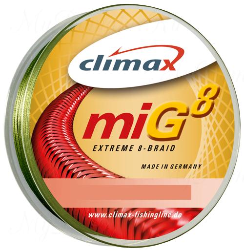 Плетёный шнур Climax Mig 8 Extreme Braid 135m 0,14мм 13.5кг (зеленый)