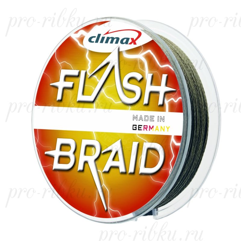 Плетёный шнур Climax FLASH BRAID 0,60 мм 48 кг 100 м цвет: серый (плавающий)