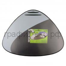 Коврик 69х51 треугольный себр/черный Durable 7208-01